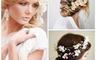 10 вариантов свадебных причесок на короткие волосы