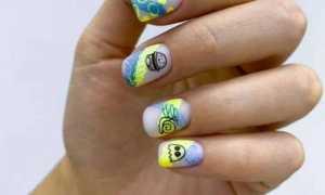 Цветной, разноцветный дизайн ногтей: фото-идеи 2020-2021