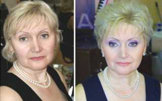 Как пошагово сделать макияж после 50 лет в домашних условиях: видео инструкция