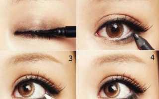 Как рисовать стрелки на глазах правильно и красиво — уроки для начинающих