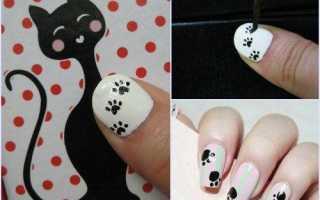 Маникюр «кошачий», с кошачьими лапками, «кошачий глаз» на короткие ногти. как сделать маникюр кошачий, фото