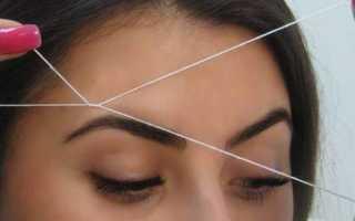 Как щипать брови ниткой? основы тридинга