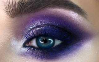 Макияж с фиолетовой помадой 2020 год