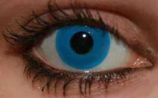Для чего нужны синие линзы на карие глаза?