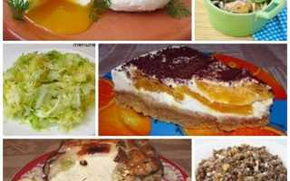 Недорогое меню правильного и здорового питания на неделю